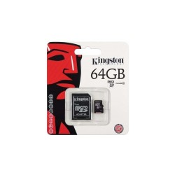 Memoria micro SD 64GB Clase 10 Kingston