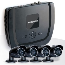 Kit de Seguridad PC BOX 4 Camaras + DVR + 500GB
