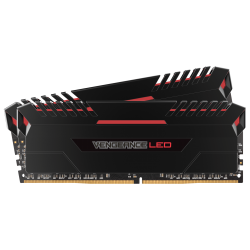 Memoria Ram Ddr4 16GB Corsair 2x8 2666 Mhz Red Led Vengance