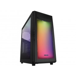 Gabinete Gamer Raidmax alpha a15 negro blanco mid tower RGB