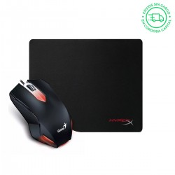 MOUSE GAMER GENIUS X-G200 + PAD MOUSE HYPERX FURY