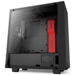 Gabinete Gamer Nzxt s340 Elite Mate Black y Red