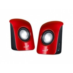 Parlantes estéreo USB SP-U115 Rojo