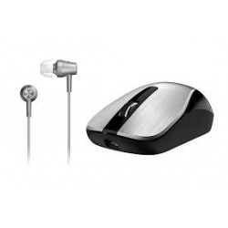 MOUSE GENIUS HM 8015 WIRELESS + AURI IN EAR SILVER