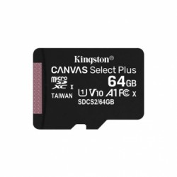 TARJETA MICRO SDXC 64GB CANVAS SELECT PLUS C/ADAPTADOR KINGSTON