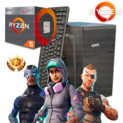 GABINETE CX SLIM 5835 BLACK ALUM FUENTE 600W