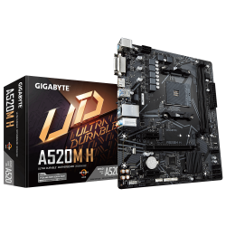 MOTHERBOARD GIGABYTE  AM4  A520M-H
