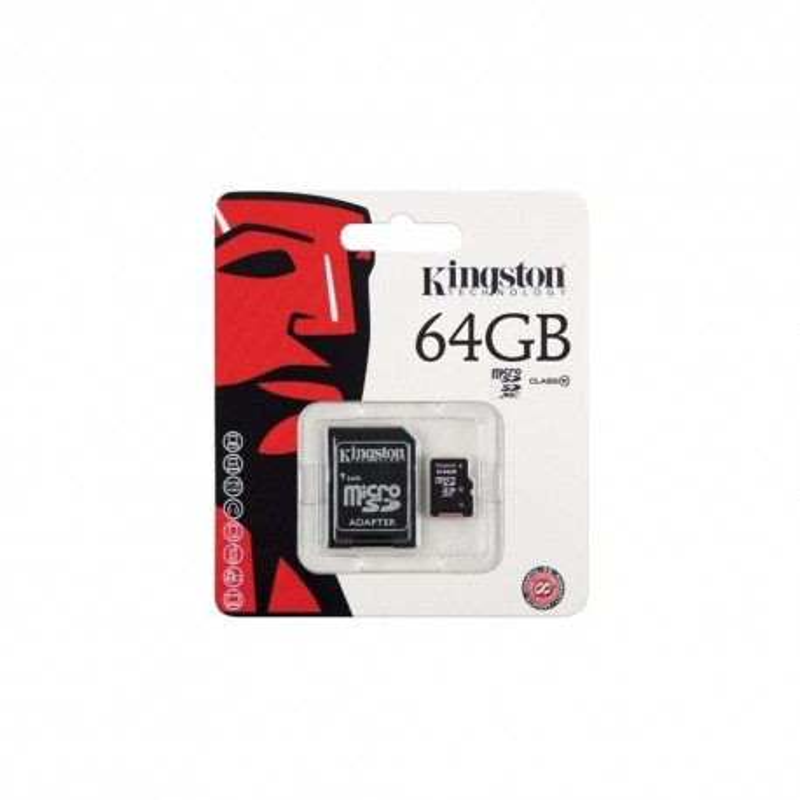 Memoria micro SD 64GB Clase 10 Kingston