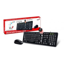 TECLADO+MOUSE GENIUS WIRELESS KM-8200 SMART BLACK