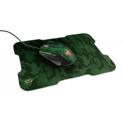 Combo Mouse y Mouse Pad Trust Rixa Camuflado