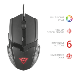 Mouse Gaming Trust GXT101 Negro