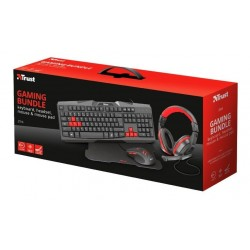 KIT GAMER TRUST TECLADO + MOUSE + MOUSEPAD + AURICULARES ZIVA