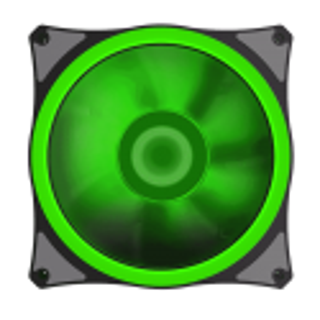 Fan Gamemax Leds Verde Para Gabinete 120mm