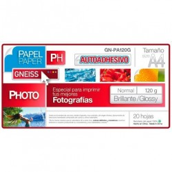 Papel Autoadehesivos Gneiss 120Gr Glossy 20 Hojas A4
