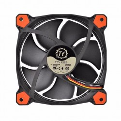 Cooler thermaltake 3 fan pack 12 cm led Rojo riing