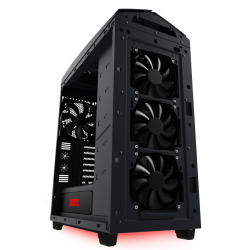 Gabinete Gamer Nzxt Noctis 450 Mate Black Led Red