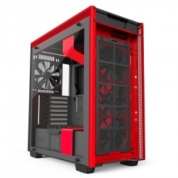 Gabinete Gamer Nzxt H700i Matte Black - Red