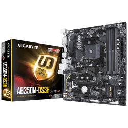 MOTHER GIGABYTE AB350 M-DS3H AM4