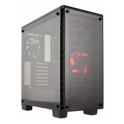 Gabinete Gamer Corsair 460x Compact Crystal Led Red
