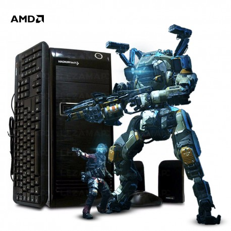 Pc Amd Cpu Quad Core Ati Radeon 8400 Hdmi Soporta 2 Monitor