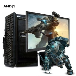 Pc Amd Quad Core con Monitor Led 19 Pulgadas