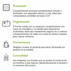 "Mochila para laptop 15.6"" Essential"